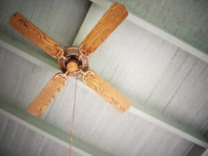 houten plafondventilator