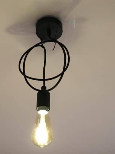 Osram Smart+ Edison gold aan het plafond