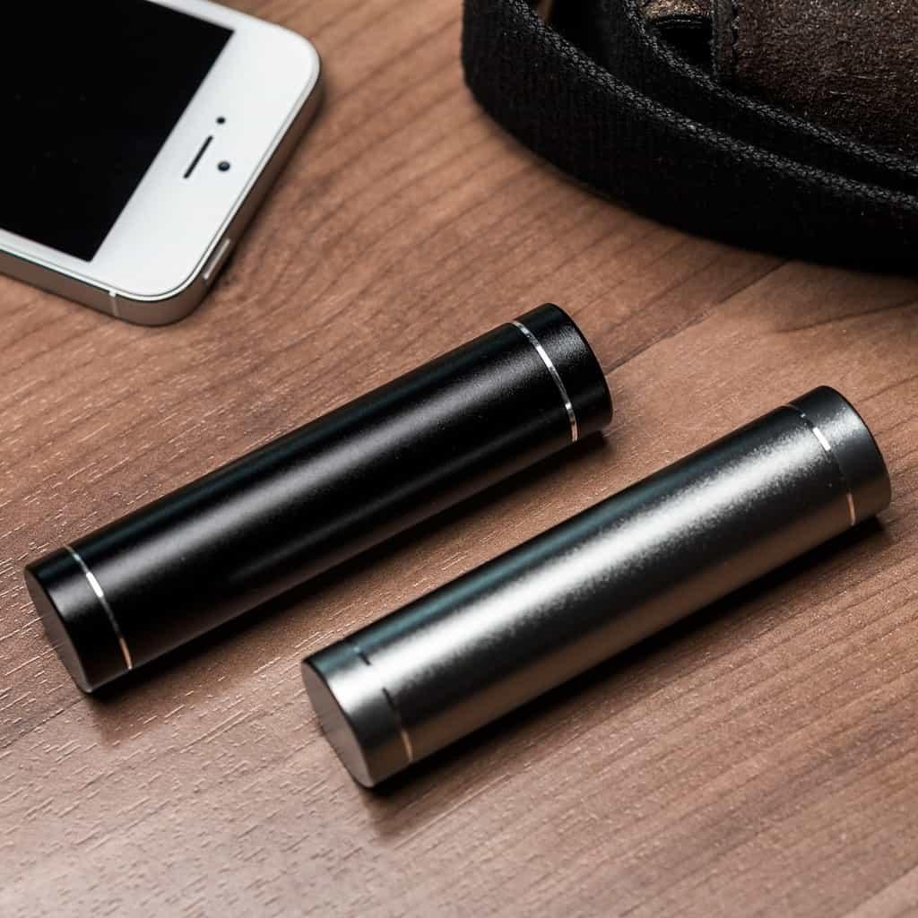 Powerbank lader met smartphone