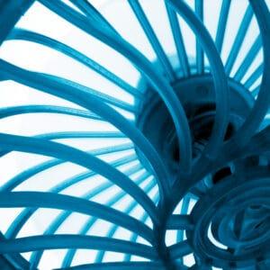 ventilator blauw