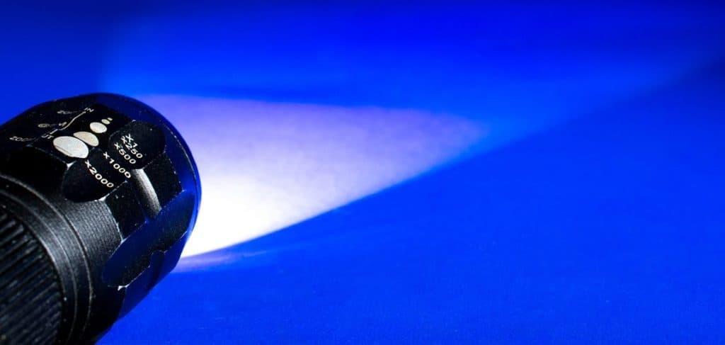 zaklamp lichtbundel